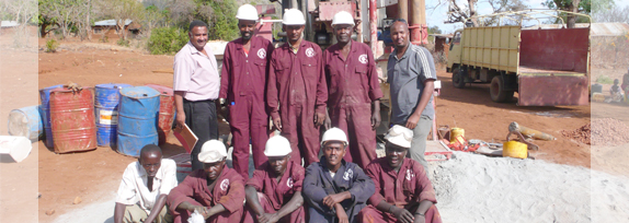 African Water Drilling Proud Staff